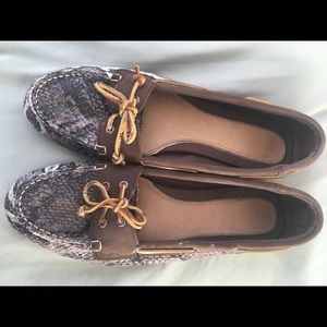 Sperry Topsider Alligator Mocs Sz 11 M EUC